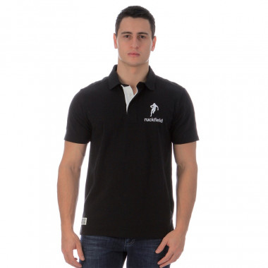 Ruckfield Black Short Sleeves Chabal Polo