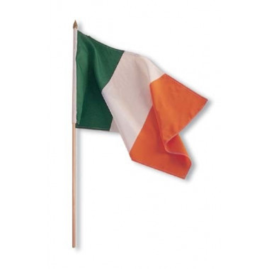 Irish Flag on a Stick 30 x 40 cm