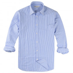 Chemise Rayée Blanche et Bleue Out Of Ireland