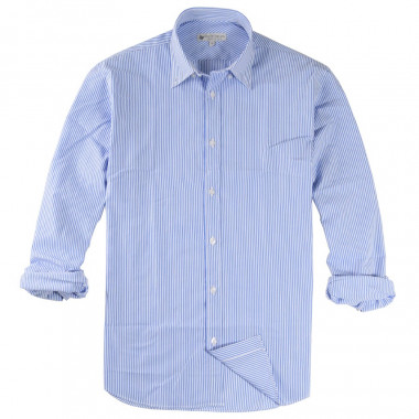 Out Of Ireland White Shirt with Blue Stripes