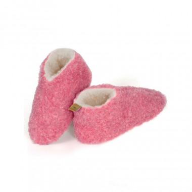 Alwero Pink Wool Skipper Slippers