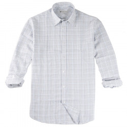 Out Of Ireland Light Blue, Grey and Navy Check Shirt