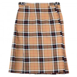 O'Neil of Dublin Camel & Black Mid-Length Kilt