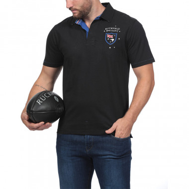 Ruckfield New Zealand Black Jersey Polo