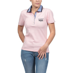 POLO PIQUe FEMME MANCHES COURTES ROSE RUCKFIELD