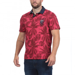 Polo Jersey Palmiers Rouge Ruckfield