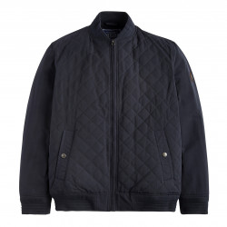 Tom Joule Navy Blue Quilted Bomber Jacket