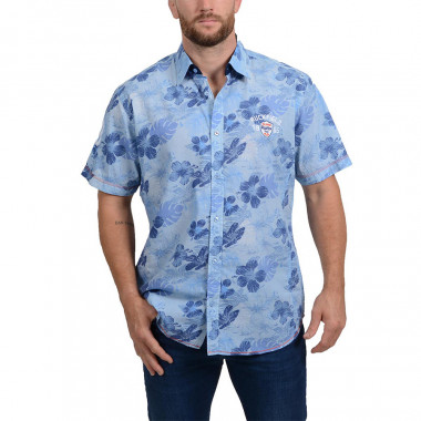 Ruckfield Blue Flower Print Shirt