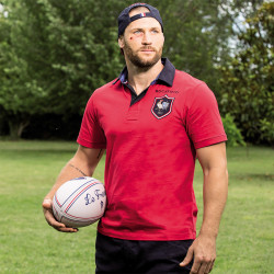 Ruckfield Red Jersey Short Sleeve Polo