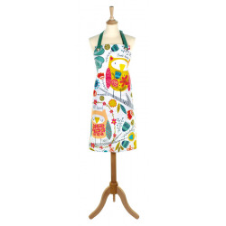 Owls Apron Ulster Weavers 100% Cotton 59*81