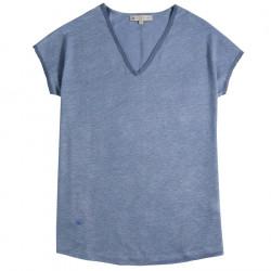 T-Shirt Lin Bleu Out Of Ireland