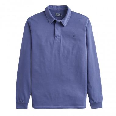 Tom Joule Long Sleeves Blue Polo Shirt
