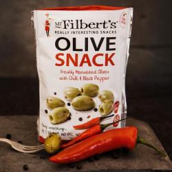 Green Olives Chili Black Pepper Mr Filbert's 65g