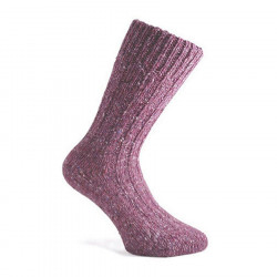 Donegal Socks Mottled Dark Pink Short Socks