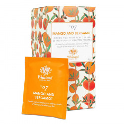 Whittard Mango and Bergamote Green Tea 25 Tea Bags