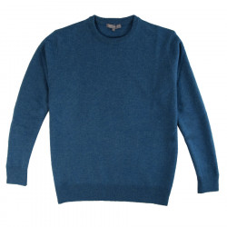 Pull homme col rond turquoise best yarn