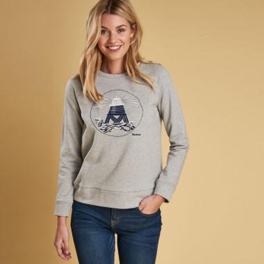 Barbour Grey Coldhurst Sweatshirt