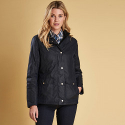Barbour Sandsend Navy Blue Waxed Jacket
