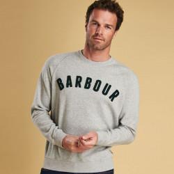 Barbour Grey Prep Logo Crew Sweatshirt