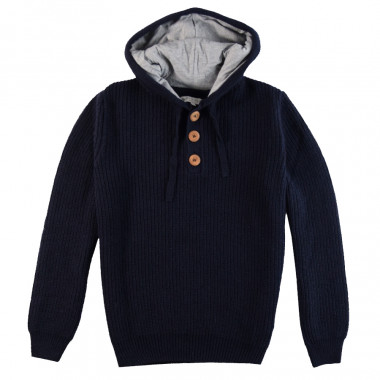 Out Of Ireland Navy Hooded Sweater