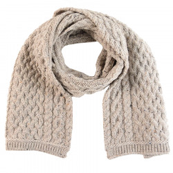 Inis Crafts Heather Beige Aran Scarf