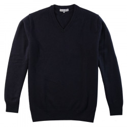 Best Yarn Navy V Collar Sweater