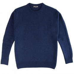 Best Yarn Lambswool Sweater Rond Neckline Dark Blue