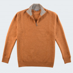 Best Yarn 1/2 Zip Collar Mustard Sweater