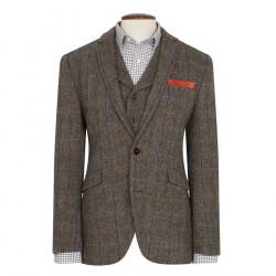 Brook Taverner Sumburgh Harris Tweed Brown and Beige Jacket