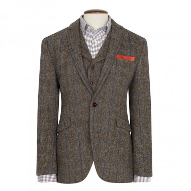 Conception innovante 3a2d6 febbf Brook Taverner Sumburgh Harris Tweed Brown and Beige Jacket