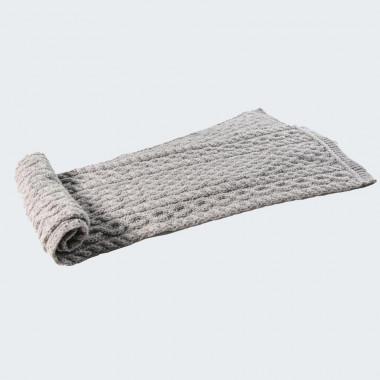 Echarpe torsade et tresse grise inis craft