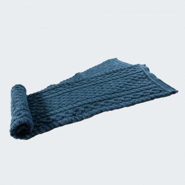 Echarpe torsade et tresse bleu vert inis craft