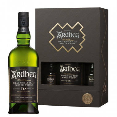 Coffret Ultimate Ardbeg 10 ans 70cl 47.21° + 2x5cl