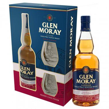 Coffret Glen Moray Sherry Cask + 2 Verres 70cl 40°