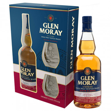 Glen Moray Sherry Cask Box + 2 Glasses 70cl 40°