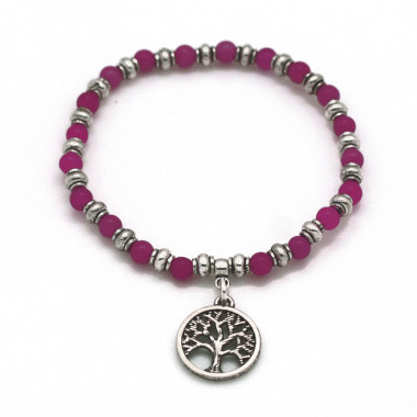 Bracelet Charm Tree Of Life Rose