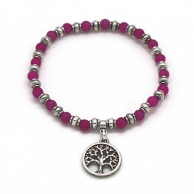 Bracelet Charm Tree Of Life Rose