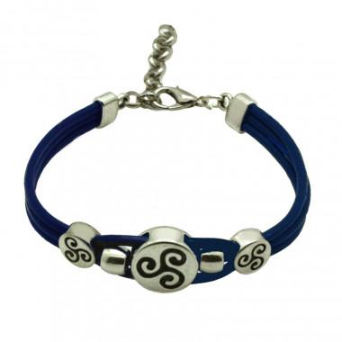 Bracelet Fantaisie Triskel Bleu