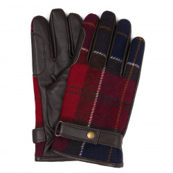 Barbour Red Tartan Gloves Newbrough
