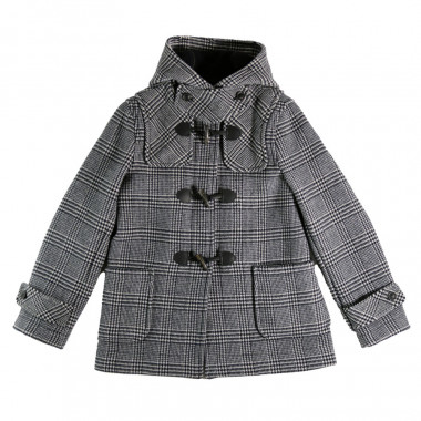 London Tradition Prince Of Wales Short Duffle-Coat Erica
