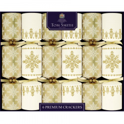 Party crackers gold & cream premium x6