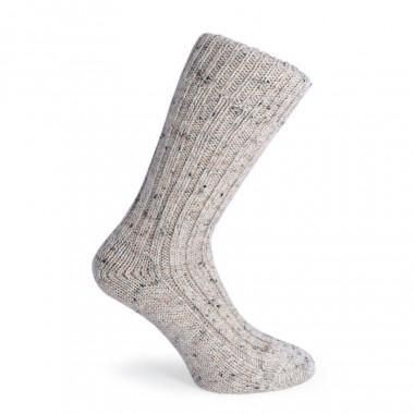 Chaussettes Courtes Beige Chiné Donegal Socks