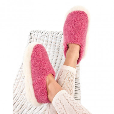 Chaussons siberian laine rose
