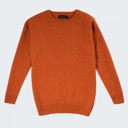 Celtic Alliance Heather Orange Round-Neck Lambswool Jumper