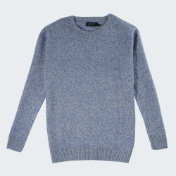 Celtic Alliance Crew Neck Heather Blue Lambswool Jumper