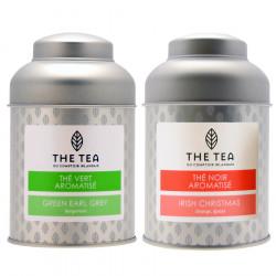 The Tea Christmas Tea & Earl Grey Green Tea 2x100g