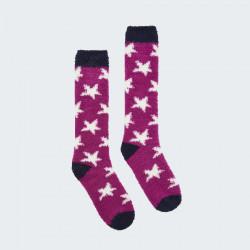 Tom Joule Pink Festive Stars Socks