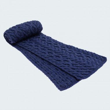 Echarpe Mérinos Bleu Aran Woolen Mills