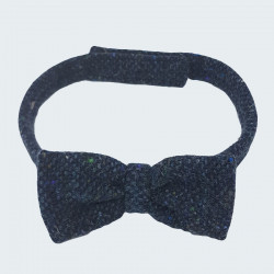 Hanna Hats Blue Tweed Bow Tie