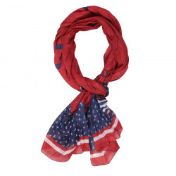 Red and Navy Ruckfield Scarf